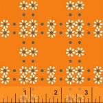 Mimosa 39985-5 Mandarin Daisy Grid by Windham