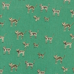 Hatbox Cotton/Linen 4001-52 Green Tiger Stripes by Cotton + Steel