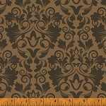 Keys 40041-2 Toffee Damask by Whistler Studios for Windham