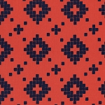 Mesa 4008-02 Coral Tile by Alexia Abegg for Cotton + Steel