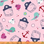 Ahoy Matey! 40151-X Pirate Girl in Multi by Whistler Studios for Windham