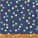 Ahoy Matey! 40156-2 Navy Stars by Whistler Studios for Windham