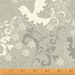 Glisten 40298M-2 Silver Metallic Doves by Whistler Studios for Windham