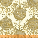Glisten 40301M-1 Gold Metallic Ornaments by Windham