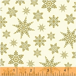 Glisten 40302M-1 Gold Metallic Snowflakes by Windham