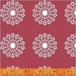 Modern Country 40721-1 Raspberry Lace Medallion by Windham