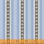 Modern Country 40724-7 Light Blue Floral Stripe by Windham