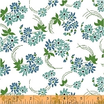 Hazel 40837-5 Blue Flower Swirl by Allison Harris for Windham