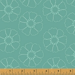 Hazel 40839-7 Teal Stencil Flower by Allison Harris for Windham