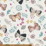 Whisper 41359-X Multi Butterflies by Victoria Johnson for Windham