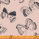 Whisper 41363-2 Blush Mono Butterflies by Windham