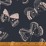 Whisper 41363-6 Navy Mono Butterflies by Windham