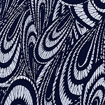 Indigo Blues 4336 Large Swirls by Henry Glass