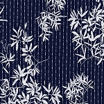 Indigo Blues 4953 Leafy Branches by Henry Glass