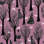 Spellbound 5007-3 Lilac Haunted Forest by Cotton + Steel