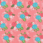 Gooseberry 5010-12 Petal Pink Bouquet by Lella Boutique for Moda