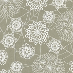 Spellbound 5010-1 Grey Doily Web by Cotton + Steel