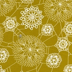 Spellbound 5010-2 Mustard Doily Web by Cotton + Steel