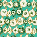 Tinsel 5014-1 Teal Metallic Ornaments by Cotton + Steel