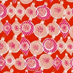 Tinsel 5014-2 Red Metallic Ornaments by Cotton + Steel