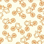 Lucy's Crab Shack 5487-25 Cream Orangesicle Cruiser by Sweetwater