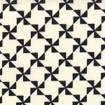 Mama Said Sew 5496-13 Cream Black Pinwheel by Sweetwater EOB