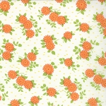 Happy Go Lucky 55063-19 White Orange Mum by Bonnie & Camille for Moda