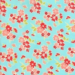 Miss Kate 55091-12 Aqua Spring by Bonnie & Camille for Moda
