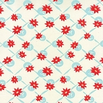 Miss Kate 55097-24 White Aqua Polka by Bonnie & Camille for Moda