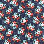 Daysail 55107-13 Navy Blooms by Bonnie & Camille for Moda