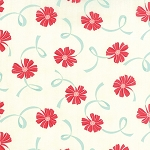 Hello Darling 55116-14 Aqua Red Ribbon by Bonnie & Camille for Moda