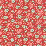Hello Darling 55118-11 Red Wildflowers by Bonnie & Camille for Moda