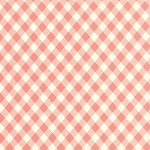 Vintage Picnic 55124-13 Coral Check by Bonnie & Camille for Moda