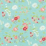 Vintage Picnic 55125-12 Aqua Playful by Bonnie & Camille for Moda