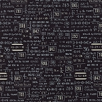 Elementary 5568-12 Black Equations by Sweetwater for Moda