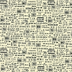 Elementary 5568-14 Vanilla Black Equations by Sweetwater for Moda