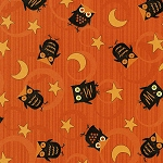 Scaredy Cats 67511-895 Orange Owls Over the Moon by Wilmington