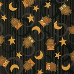 Scaredy Cats 67511-925 Black Owls Over the Moon by Wilmington