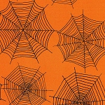 Scaredy Cats 67512-889 Orange Spider Webs by Wilmington