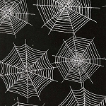 Scaredy Cats 67512-991 Black Spider Webs by Wilmington