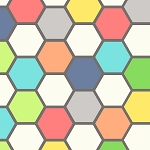 Chromatics 6MMA-2 Pastel Hexagons by In The Beginning