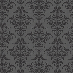 Chillingsworth 7446-K Black Damask by Andover