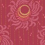 Downton Abbey 7665-R Red Dahlia by Andover