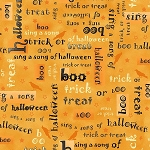 Not So Spooky 8311-35 Orange Words by Holly Hill for Henry Glass