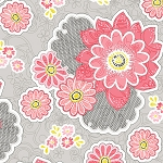 Sweet Harmony 9594-92 Pink Large Floral by Henry Glass EOB