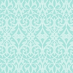 Sweet Harmony 9598-11 Aqua Damask by Henry Glass