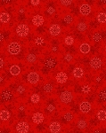Holiday Cheer 9685-88 Red Snowflake by Henry Glass
