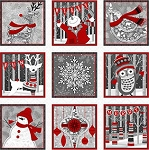 Holiday Magic 9797P-09 Blocks Panel by Jan Shade Beach for Henry Glass