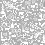 Holiday Magic 9799-99 Grey Winter Motifs by Henry Glass