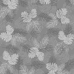 Holiday Magic 9800-99 Grey Pinecones by Henry Glass